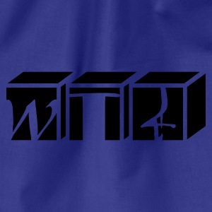 Divablauw wtf kubus / wtf cubes (1c) T-shirts - Gymtas