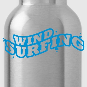 Windsuring - surfen Typo Outline T-Shirts - Water Bottle