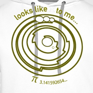 Crop Circle Shirt Pi - Barbury Castle - Men's Premium Hoodie