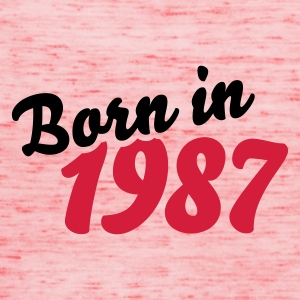 Gelb Born in 1987 T-Shirts - Frauen Tank Top von Bella