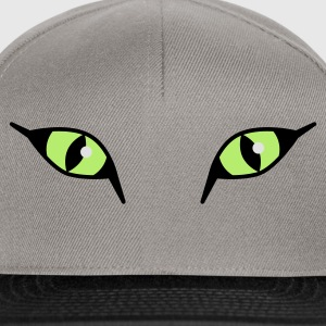 Wilde Katzenaugen / Neon Cat Eyes XXL Damen Shirt - Snapback Cap