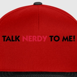 Light pink Talk Nerdy to Me (2c) T-shirts - Snapback Cap