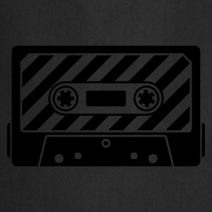 Negro Audio Tape Camisetas - Delantal de cocina