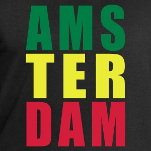 Black Amsterdam Rasta Typo Women's T-Shirts - Men's Sweatshirt by Stanley & Stella