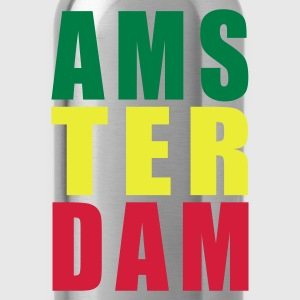 Black Amsterdam Rasta Typo Women's T-Shirts - Water Bottle