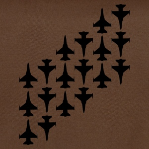 Brun Fighter Jets T-shirts - Skuldertaske