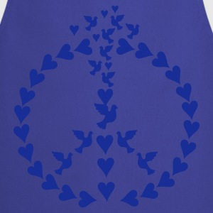 Turkis Ro i hjerter/ peace of hearts (1c) T-shirts - Forklæde