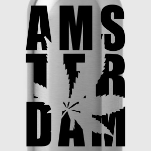 Yellow Amsterdam Weed Typo Women's T-Shirts - Water Bottle