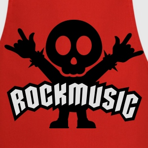 Rouge rock music heavy metal T-shirts - Tablier de cuisine