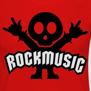 Rouge rock music heavy metal T-shirts - T-shirt manches longues Premium Femme