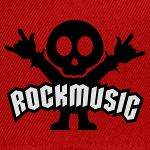 Röd rock music heavy metal T-shirts - Snapbackkeps