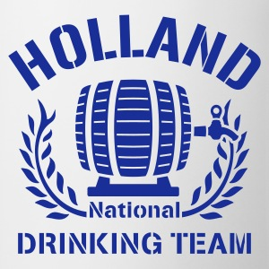 Wit HOLLAND DRINKING TEAM T-shirts - Mok