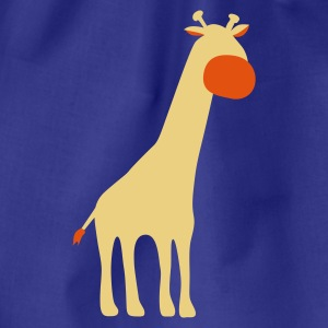 Aqua Giraffe Women's T-Shirts - Drawstring Bag