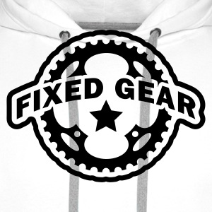 Fixed Gear Fixie Chainring T-Shirts - Men's Premium Hoodie