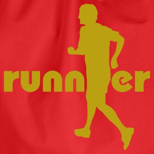 Red Running, Runner T-Shirts - Drawstring Bag