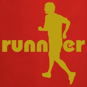 Red Running, Runner T-Shirts - Cooking Apron