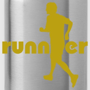 Red Running, Runner T-Shirts - Water Bottle