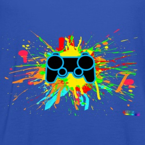 Controller Splatter Gamer T-Shirts - Women's Tank Top by Bella