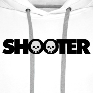Weiß Shooter © T-Shirts - Premium hettegenser for menn