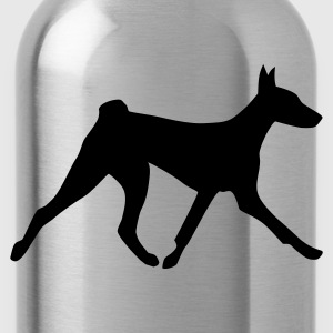Olive Laufender Basenji T-Shirts - Trinkflasche