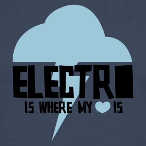 Electro is where my heart is - Men's Premium Longsleeve Shirt