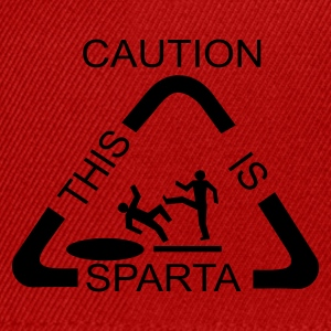 Attention Sparta plaque - Casquette snapback
