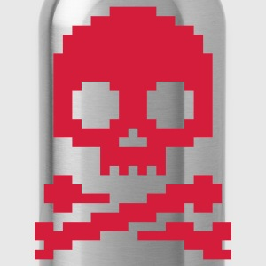 Rot Pixel Skull © T-Shirts - Trinkflasche