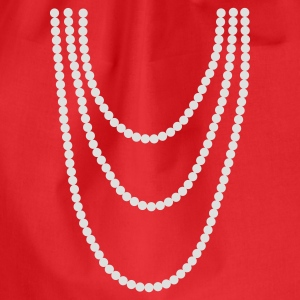 Red Pearl chain Women's T-Shirts - Drawstring Bag