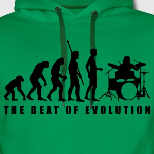 evolution_drummer_c_1c T-Shirts - Men's Premium Hoodie