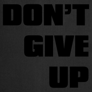 Svart don't give up T-shirts - Förkläde