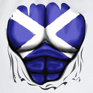 Scotland Flag Ripped Muscles, six pack, chest t-sh - Drawstring Bag