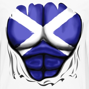 Scotland Flag Ripped Muscles, six pack, chest t-sh - Men's Premium Longsleeve Shirt