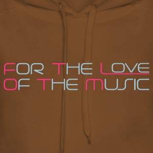 Rosa chiaro For The Love of The Music T-shirt - Felpa con cappuccio premium da donna