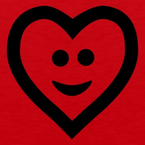 Rouge Heart with smile T-shirts - Débardeur Premium Homme