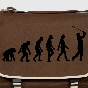 Gråbrun Evolution of Golf (1c) T-shirts - Skuldertaske