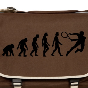 Marrone nobile Evolution of Tennis (1c) T-shirt - Tracolla