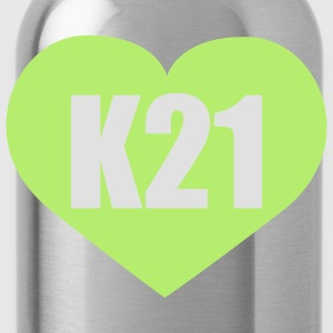 Moosgrün I love K21 Stuttgart © T-Shirts - Water Bottle