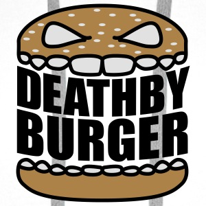 Death by Burger | Hamburger | Cheeseburger | Fast Food - Bluza męska Premium z kapturem