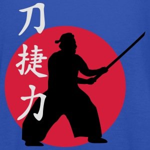 samurai_strength_victory_sword_3c T-Shirts - Frauen Tank Top von Bella