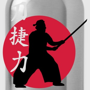 samurai_strength_victory_sword_3c T-Shirts - Trinkflasche