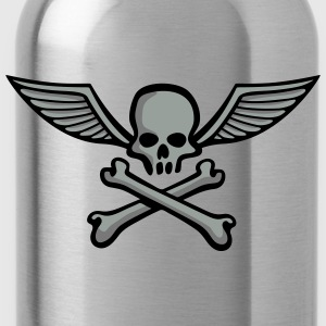 wingskull_comic_bones_3c T-Shirts - Water Bottle