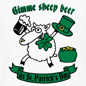 White st_pattricks_sheep_white_3c Women's T-Shirts - Men's Premium Longsleeve Shirt