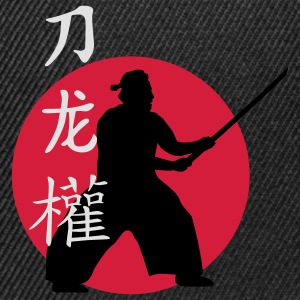 samurai_dragon_power_sword_3c T-Shirts - Snapback Cap