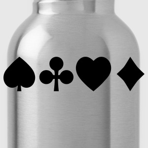 Spades diamond cross heart - card deck T-Shirts - Water Bottle