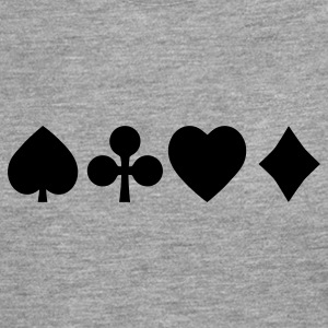 Spades diamond cross heart - card deck T-Shirts - Men's Premium Longsleeve Shirt