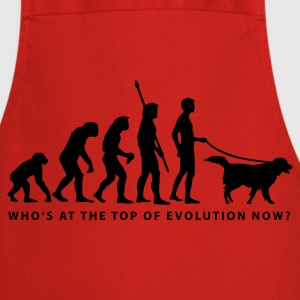 Yellow evolution_dog_b Men's T-Shirts - Cooking Apron