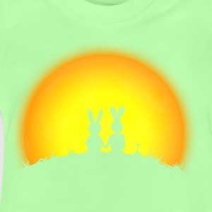 Kelly green bunny bunnies hare rabbit date sunset T-Shirts Shirts - Baby T-Shirt