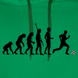 Grass green evolution_fussball_2c Women's T-Shirts - Men's Premium Hoodie