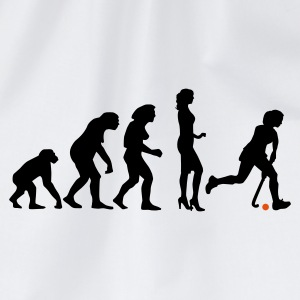 Weiß evolution_hockey_woman_a_2c T-Shirts - Turnbeutel