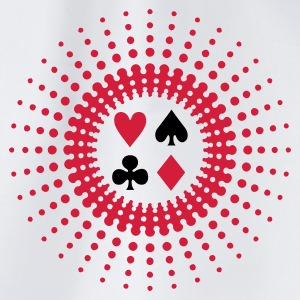 Vit poker star (2c) T-shirts - Gymnastikpåse